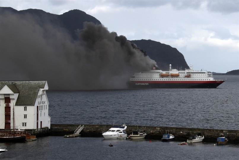 Explosion And Fire Rips Through Norwegian Cruise Ship Leaving Two - Is there smoking on cruise ships